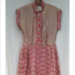 VINTAGE 1950s Taffeta Dress